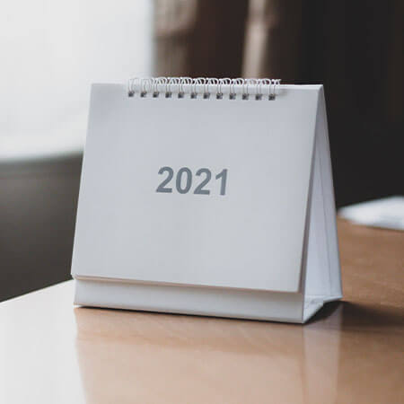 Geplande activiteiten voor 2021